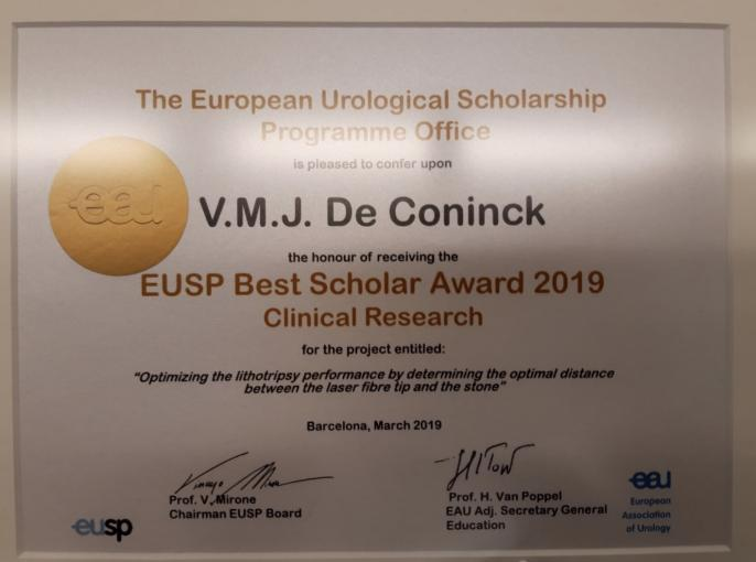 De Coninck EUSP Best Scholar Award 2019